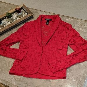 Red lace jacket - S